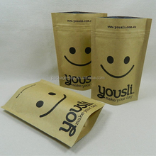 printed smoky salmon kraft paper bag popular among Canada