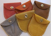 Leather Suede Pouch with Snap Closure