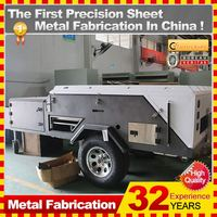 32 years experience mini motorcycle travel trailer with custom service