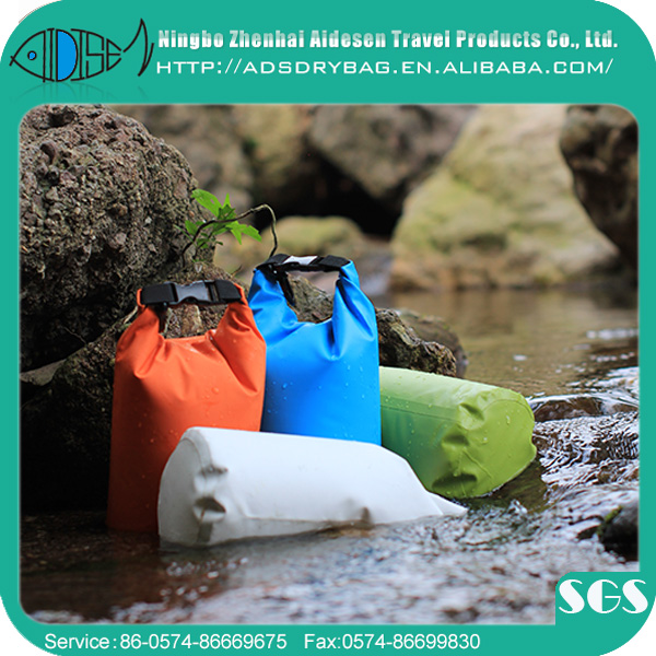 12(Dia)*24CM Size 1.5 liter capacity colorful pvc ocean pack waterproof dry bag