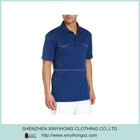 OEM Man's Polyester Navy Blue Polo Shirt With Two Pockets