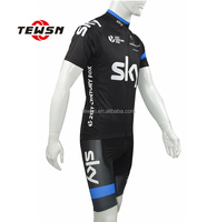 short sleeve team jersey design/pro team sky cycling jersey/ mountain bike wear