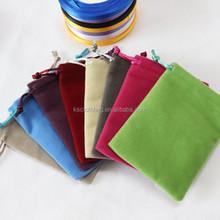 Factory Wholesale Mobile Phone Power Bank Bags Drawstring Wedding Gift Velvet Pouch
