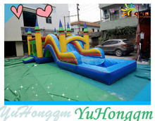 Outdoor Backyard Inflatable Castle and Water Slide for Sale
