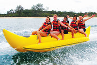 2014 hot sales inflatable flyfish banana boat, inflatable boat water game, customized colour and logo