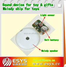 Programmable sound buzzer module for toy and gifts