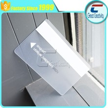 free samples transparent top simple business cards for sales with the factory price