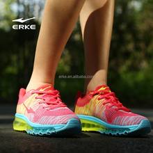 ERKE 2015 NEW womens fly knit max running shoes full length colorful air cushion sneaker for lady inventory avaliable