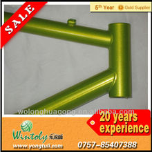 Pearl green metallic powder coating