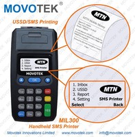 63 Movotek GPRS SMS Printer with high-speed printer for Mobile Money and Food Order Printing