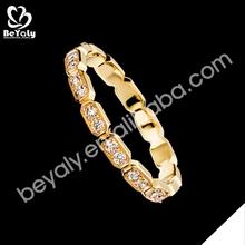 Wholesale cz silver elegant 18 carat yellow gold wedding rings