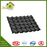 New product Promotion fire resistance ASA synthetic maroon roofing tiles