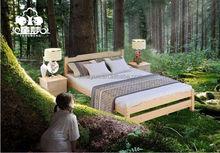 pine wood double bed/bett