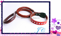 2015 New Design Fashion Leather Pet Leashes / Dog Collar For Wholesale