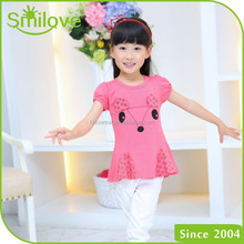 2015 korean newest fashion 100% cotton cute children's t-shirts most popular kids tops 100 cotton t-shirt