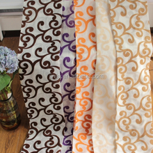 2015 high quality popular flock office curtain manufacturers textile curtain fabrics china home decor wholesale