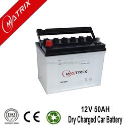 50ah 12v car JIS battery / Dry Charge Car Battery