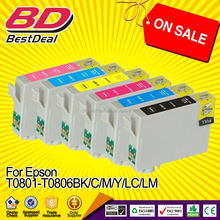 HOT SELLING model!!! t0801 t0802 t0803 t0804 t0805 t0806 ink cartridge for epson