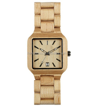Customzied 100% nature wooden watch , wood wrist watch for mens with 3atm waterproof are most popular