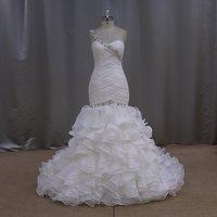 Beautiful new flare casual modelos de vestido de noiva wedding dress
