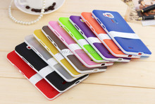 TPU+PC Mobile Phone Case Translucent Matte With Stand for MATE 7