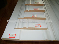 Wooden Color Floor Skirting Board solid wood baseboard
