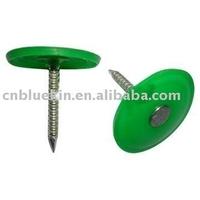 Plastic cap nails