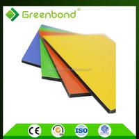 Greenbond pvdf aluminium composite panel of high quality sandwich in jiangsu