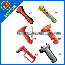 multi-function LED light emergency safty hammer with seat belt cutter