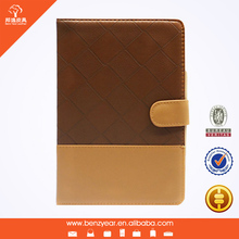 New design factory sell PU standing case with frame and magnetic flap for ipad