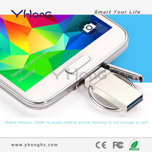 2014 new products for android mobile phone with otg, metal usb flash drive lot