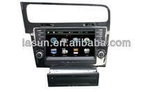 venta caliente 2 din 8 de pulgada de pantalla táctil del coche sistema de entretenimiento para vw golf7
