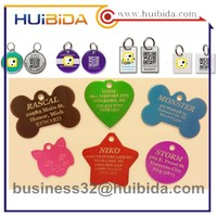 BSCI factory Metal custom shaped qr code pet tag id dog tag