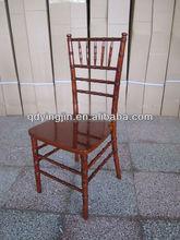 Dark Mahogany Hight Quality Wood Wedding Chivari Chair