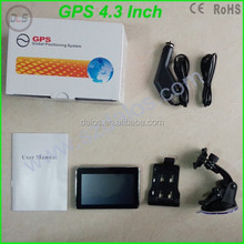 7 inch HD car gps navigator navigation system 800MHZ touch screen suport fm,mp3,video player,.wince6.0