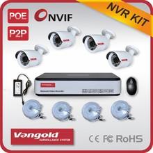 IP Camera System 4pcs 720P Camera 4CH NVR System ONVIF P2P Network Camera Kit