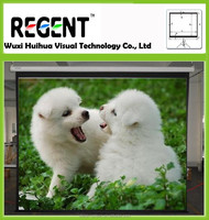 Manual Wall Mount /Automatic Lock/Slow Retract Projection Screen,