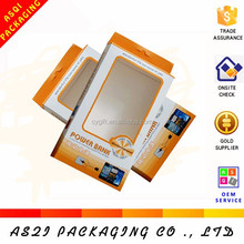 plastic chear window mobile phone power bank packing hanger paper box wholesale