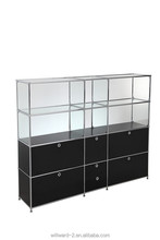 Transcube modular glass office wall cabinet
