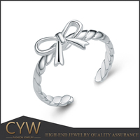 CYW jewelry factories in china , women accessories silver ring rhodium plated jewelry