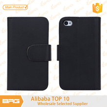 Custom flip leather case cover for iphone 4 4s