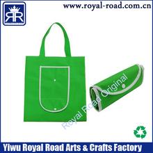 silk-screen print OEM foldable nonwoven shopping bag