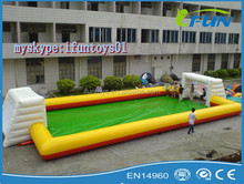 inflatable football field for sale /New design commercial arena football pitch /inflatable sports games