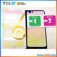 2015 new product hot fashion beautiful color tempered glass screen protector for iphone 5 5s 6/ 6 plus back front and back cover
