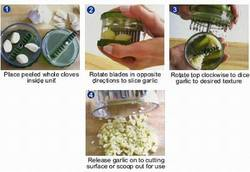 N550 No-Touch Garlic & Nuts Dicer garlic pro& free E-Z Peeler Slicer Mincer No Tears