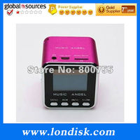 2014good sales Music Angel wireless subwoofer plays by Micro SD card and FM radio mini subwoofer