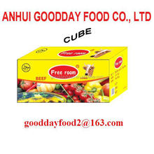 beef flavour soup bouillon cube/soft cube/broth cube packed in 10g x 60cube x 24boxes/ctn hot selling in africa