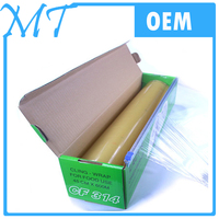 high quality household color box with dispenser food grade cling film pvc food wrap stretch film manufacturer