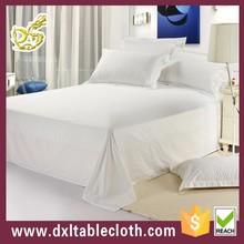 wholesale sateen stripe flat bed sheet home use pvc bedspreads
