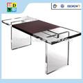 alta qualidade simples design personalizado acrílico mesa de jantar de porcelana fabricante de baixo preço